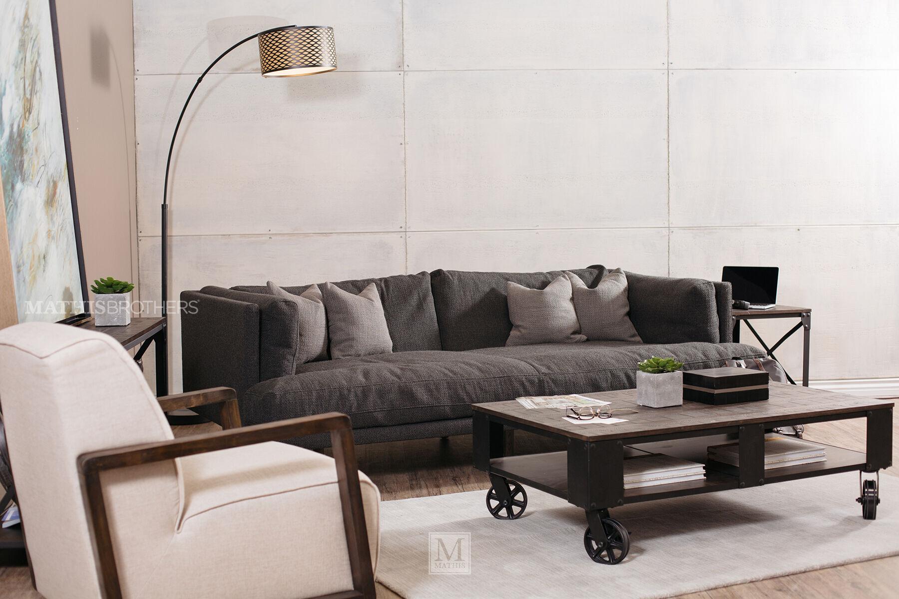 Modern Low Profile 98u0026quot; Shelter Sofa ...