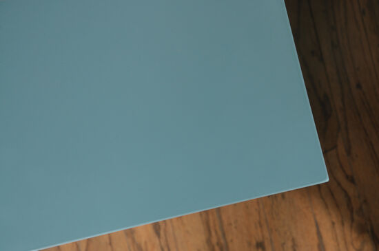 30'' Geometric Door Contemporary Display Cabinet in Moody Blue