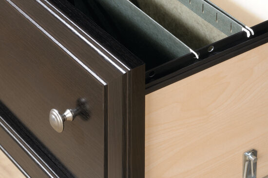 Two-Drawer Traditional Lateral File in Wind Oak