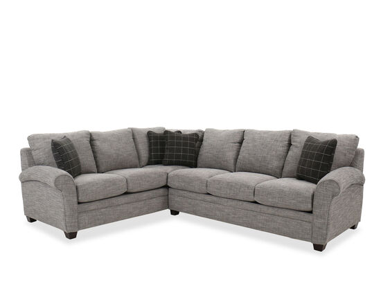 Casual Sleeper Sectional in Charcoal