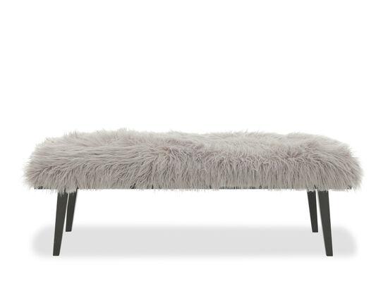"Mid-Century Modern 21"" Bench in Gray"