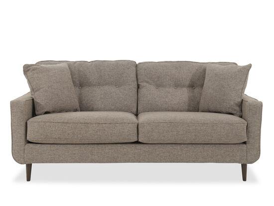 "Modern Button-Tufted 79"" Sofa in Jute"