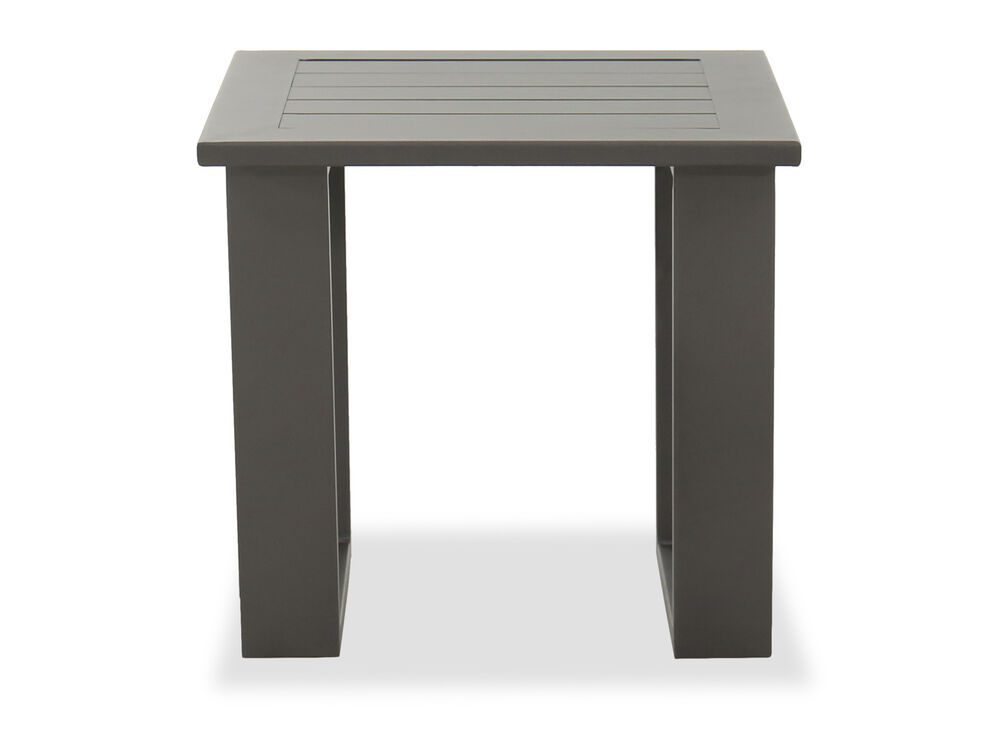 Aluminum End Table in Gray