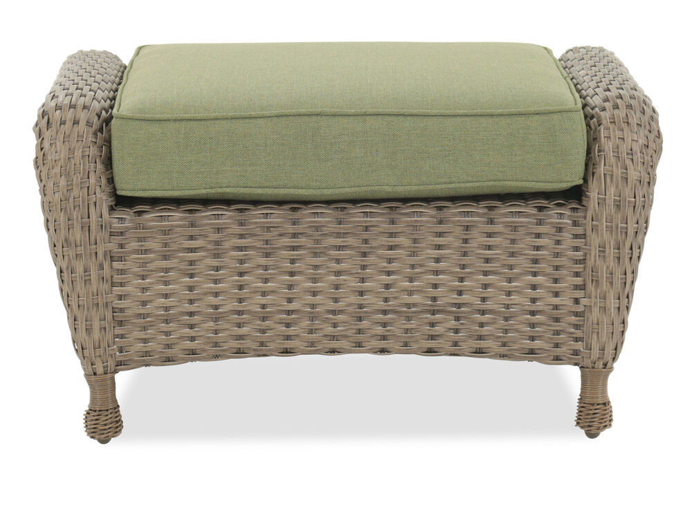 Images All Weather Woven Ottoman Nbsp In Light Brown