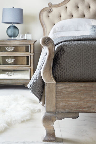 Bernhardt Campania Upholstered King Weathered Sand Panel Bed