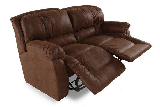 Reclining Microfiber Sofa in Dark Brown | Mathis Brothers Furniture