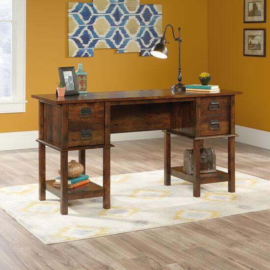 "59"" Contemporary Two-Drawer Desk in Curado Cherry"