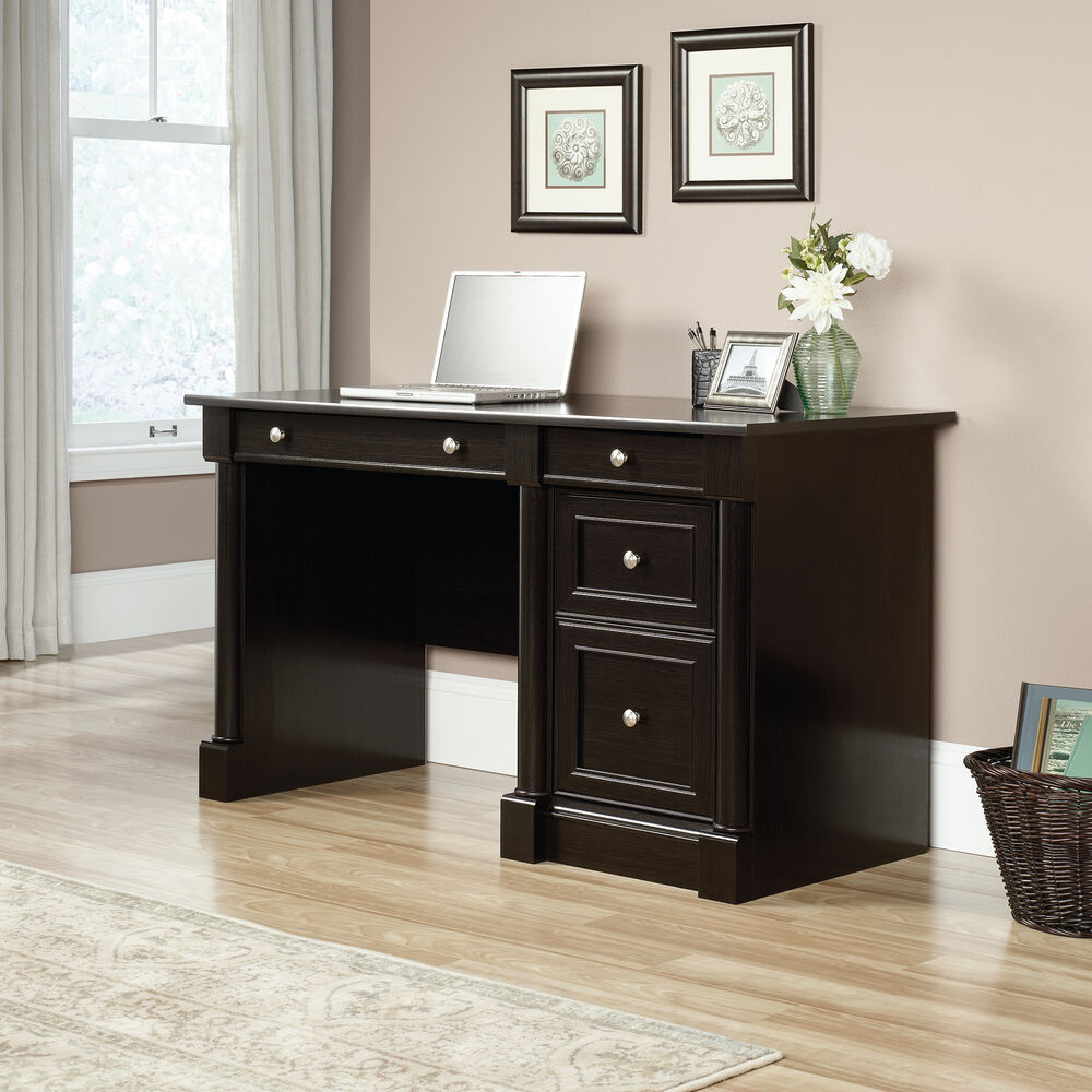 """53"""" Traditional Two-Drawer Computer Desk in Wind Oak"""