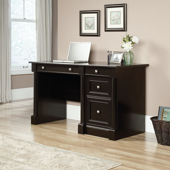 "53"" Traditional Two-Drawer Computer Desk in Wind Oak"