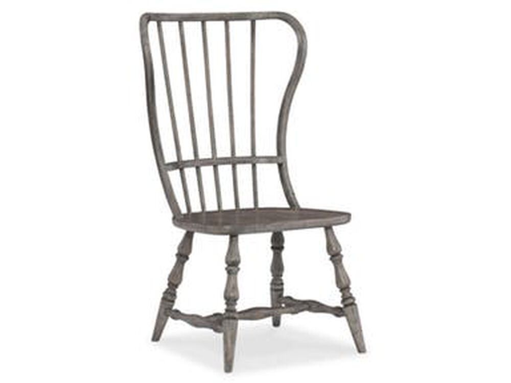 Spindle Back 43'' Side Chairin Antique Gray