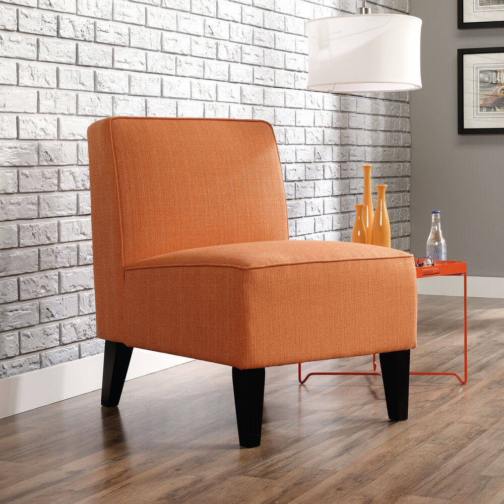 Traditional 24 Quot Armless Accent Chair In Orange Mathis