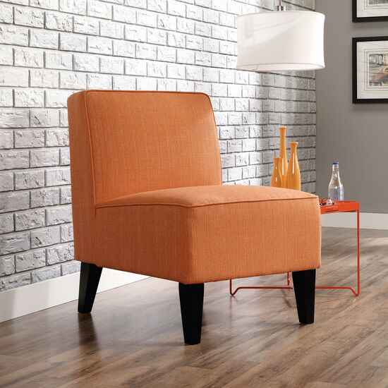 "Traditional 24"" Armless Accent Chair in Orange"