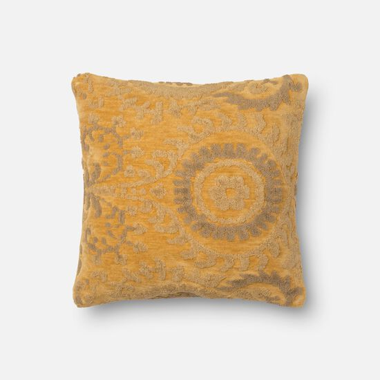 """Contemporary 18""""x18"""" Cover w/down pillow in Buttah"""