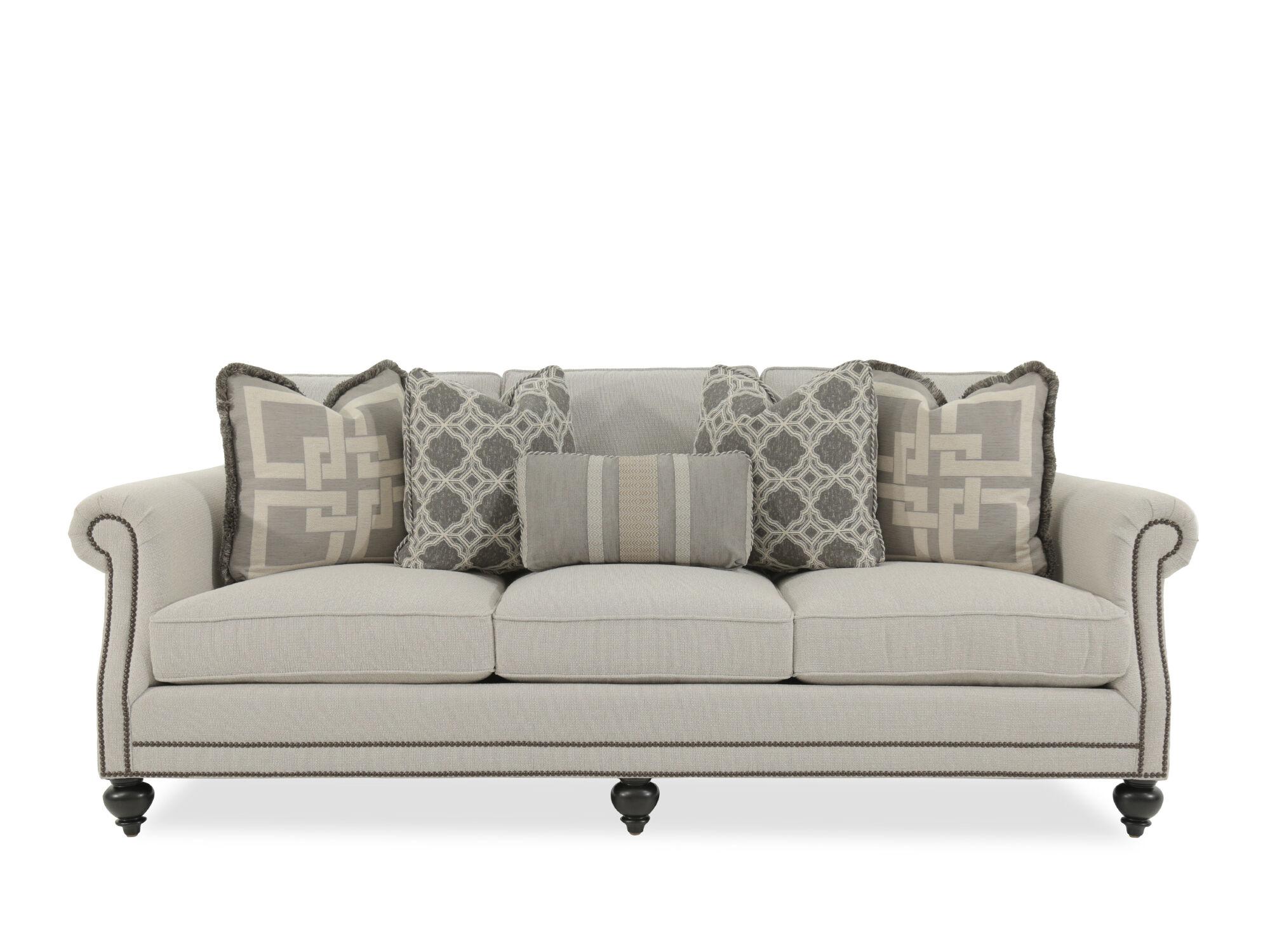 Beau Nailhead Accented 92.5u0026quot; Rolled Arm Sofa ...
