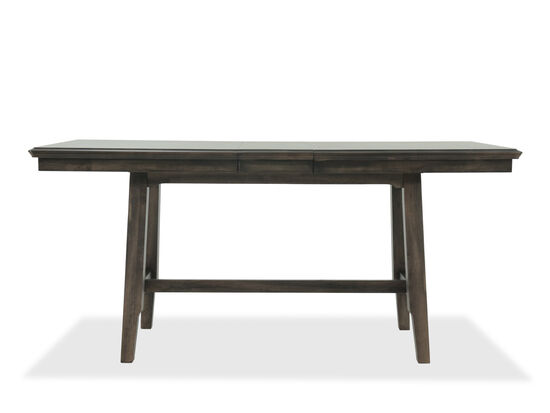 """Casual 78"""" Tall Trestle Table in Rich Brown"""
