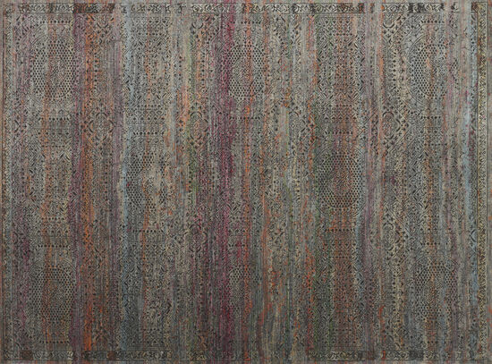 "Loloi Power Loomed 5'3"" x 7'4"" Rug in Charcoal/Sunset"