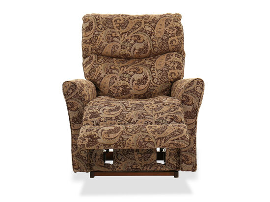 """Floral Tapestry Casual 39"""" Recliner in Mocha"""