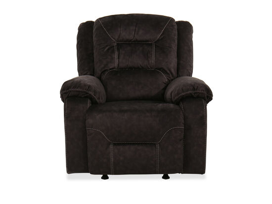 """Contemporary 40"""" Power Recliner in Gray"""