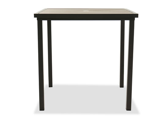 Aluminum Square Bar Table in Brown