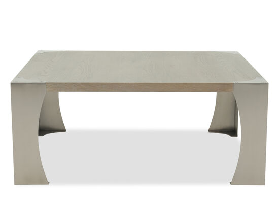 Rectangular Casual Cocktail Table in Rustic Sand