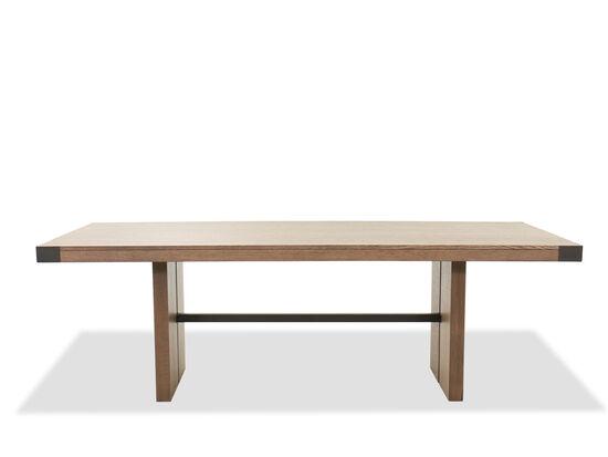 "Casual 92"" Rectangular Trestle Table in Oak"