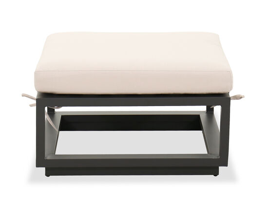 Contemporary Patio Ottoman in Cream