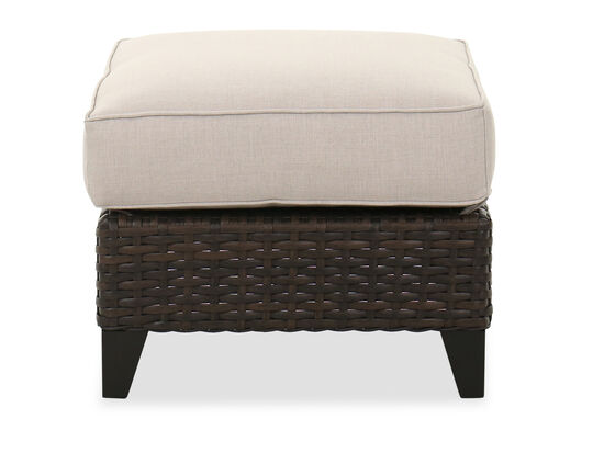 Contemporary Patio Ottoman in Dark Brown