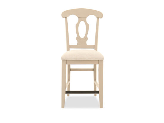 Armless Cutout-Back Bar Stool in Putty