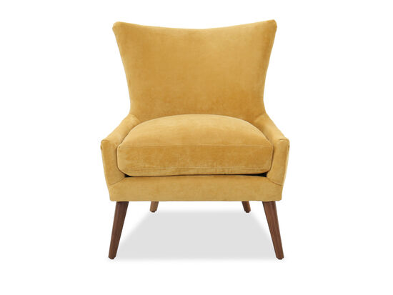 "Contemporary 29"" Accent Chair in Yellow"