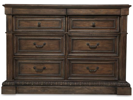 "42"" Traditional Paneled Media Chest in Brown"