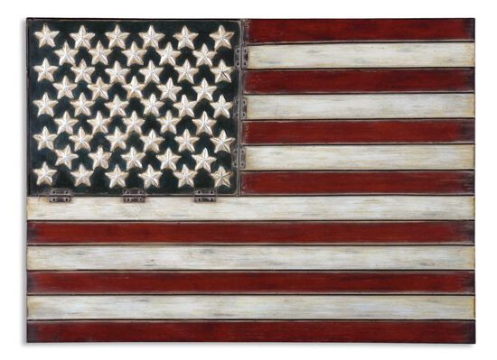 Hand-Forged American Flag Wall Art