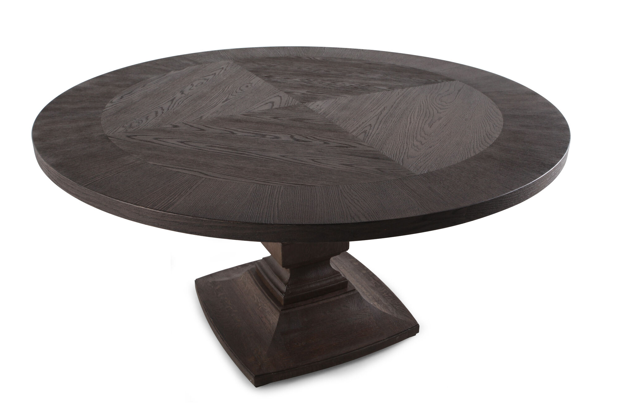 Rustic Farmhouse 60 Round Dining Table In Rich