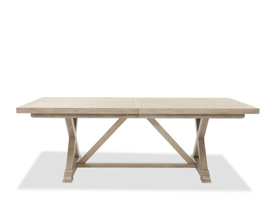 "88"" to 128"" Casual Rectangular Dining Table in Taupe"