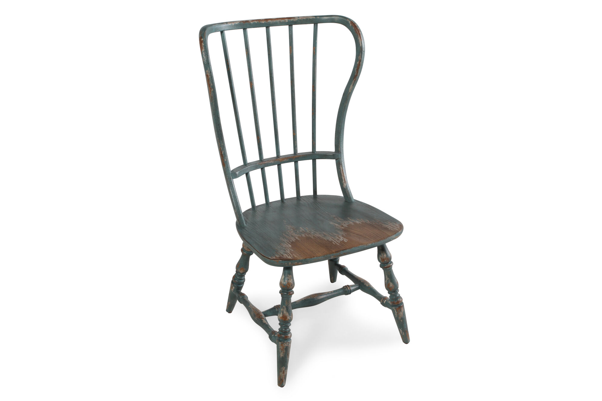Spindle Back 43'' Side Chair in Antique Blue | Mathis ...