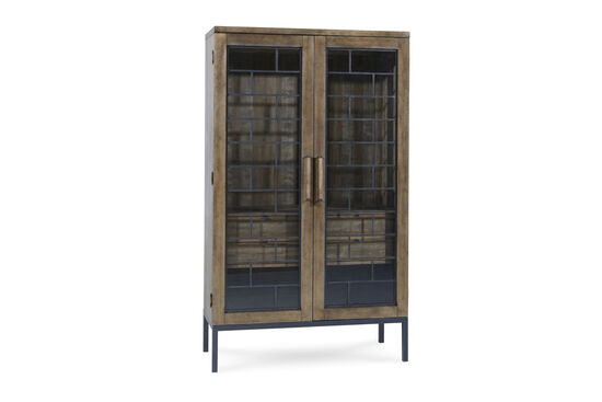 Mid-Century Modern Epicenters Display China Cabinet in Brown
