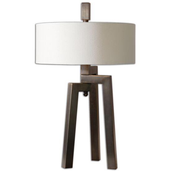 Tripod Table Lampin Antique Bronze