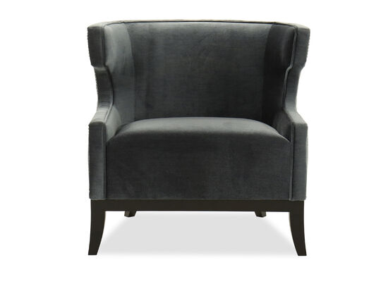 """Diamond Stitched Contemporary 33.5"""" Chair in Blue"""