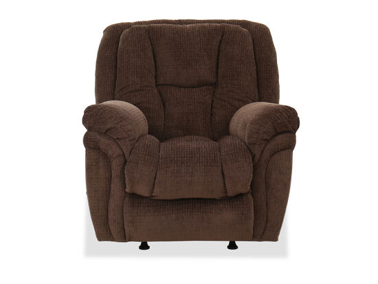 "Casual 41"" Rocker Recliner in Chocolate"
