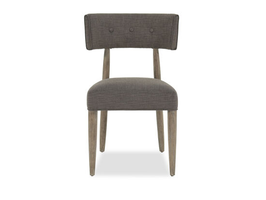 Button-Tufted 35'' Chair in Charcoal Gray