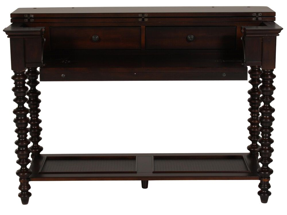 Swell Spindle Leg Traditional Console Table In Dark Brown Mathis Download Free Architecture Designs Sospemadebymaigaardcom