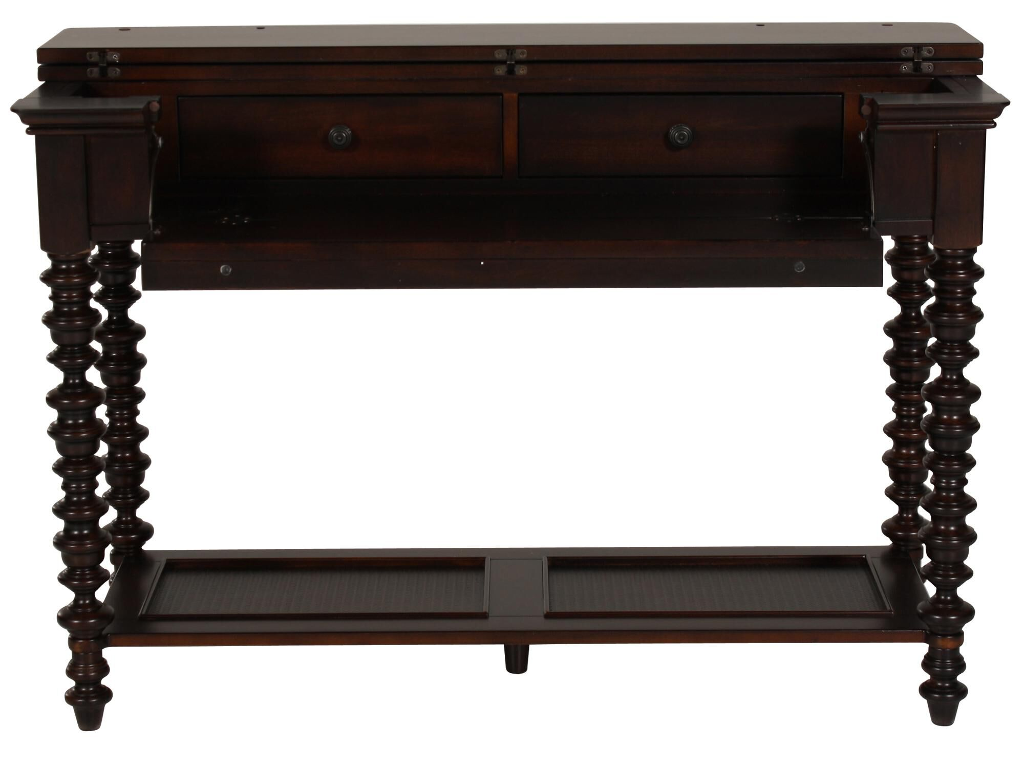 Spindle Leg Traditional Console Table In Dark Brown Spindle Leg Traditional  Console Table In Dark Brown