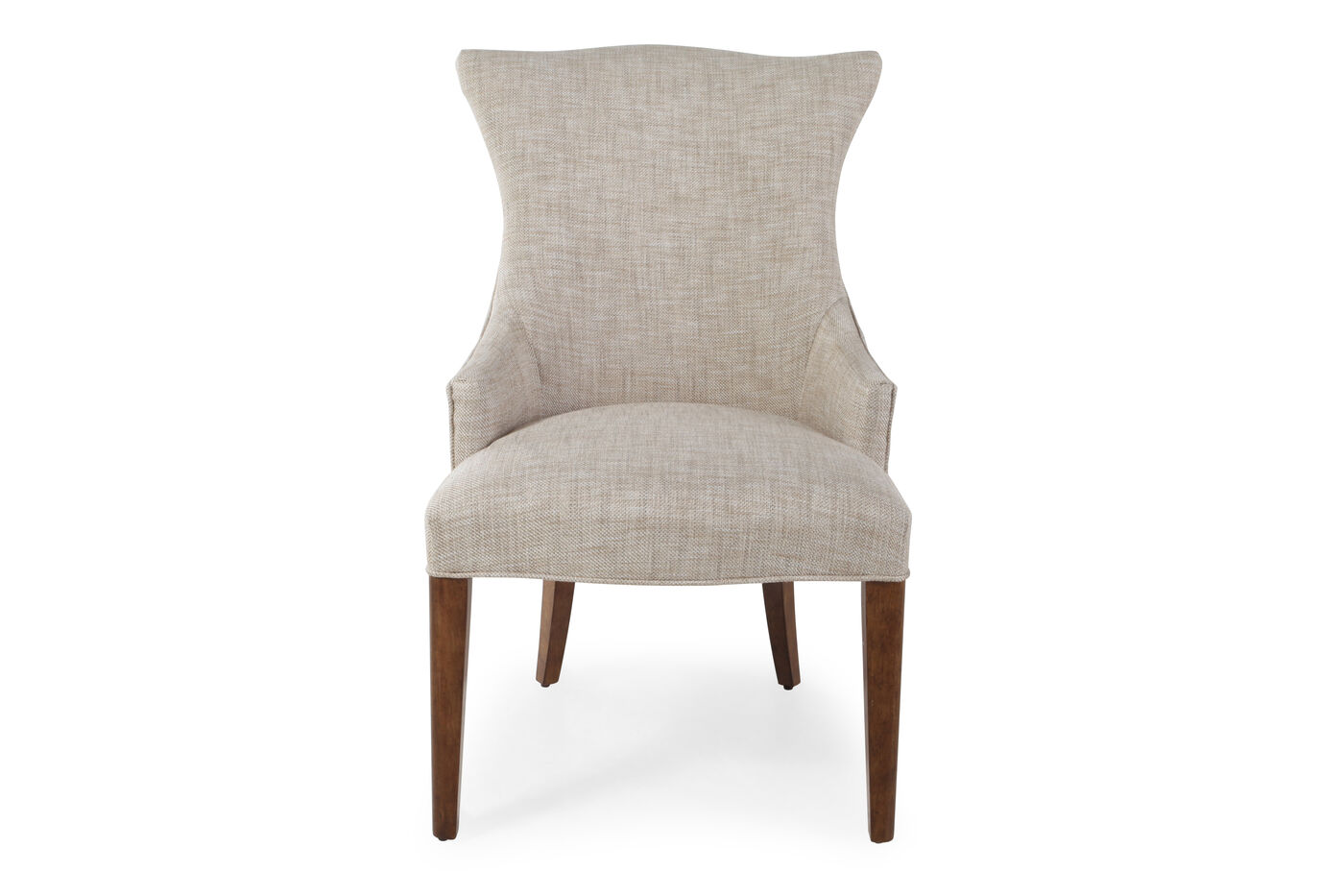 """Wing-Back Glam 23.5"""" Arm Chair in Ivory 