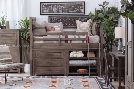 Transitional Three-Drawer Youth Dresser in Brown