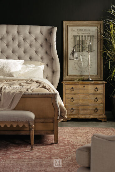 """Nailhead Accented Traditional 56.5"""" Bed Bench in Gray"""