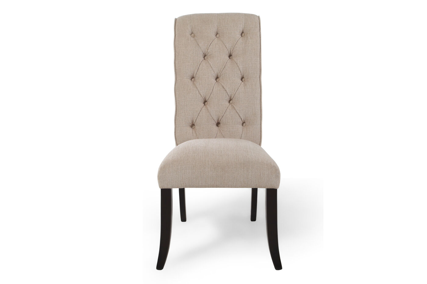 Diamond Button Tufted 43 Dining Side Chair in Beige  : IMG5880 from www.mathisbrothers.com size 1400 x 933 jpeg 56kB