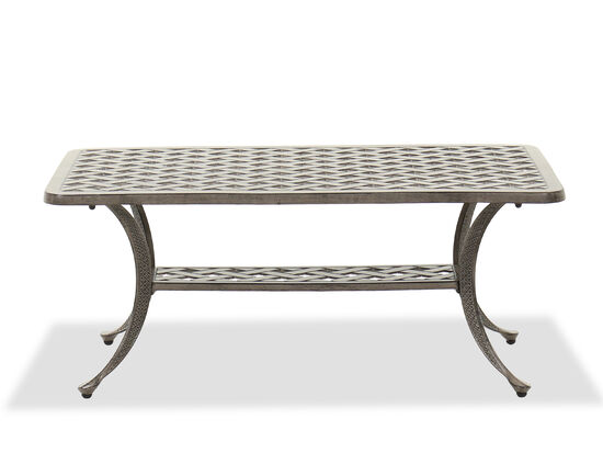 Casual Patio Coffee Table in Gray