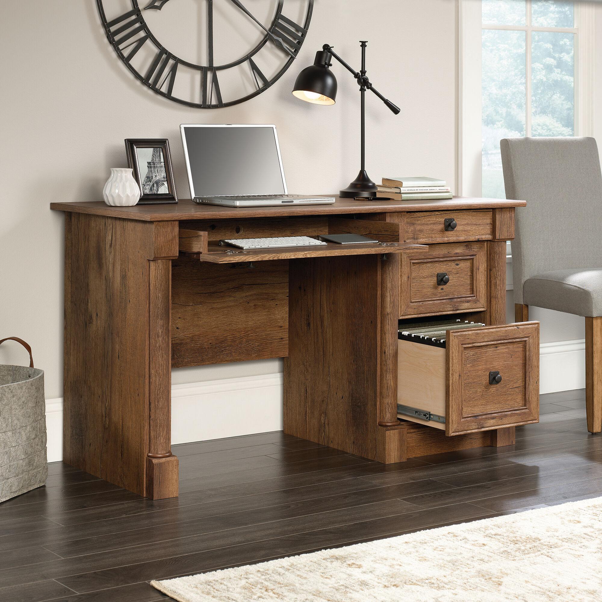 Oak 53 Contemporary Four Drawer Computer Desk