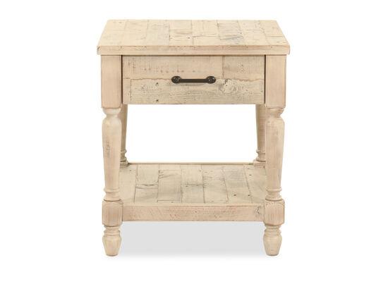 Rectangular End Table in Whitewash