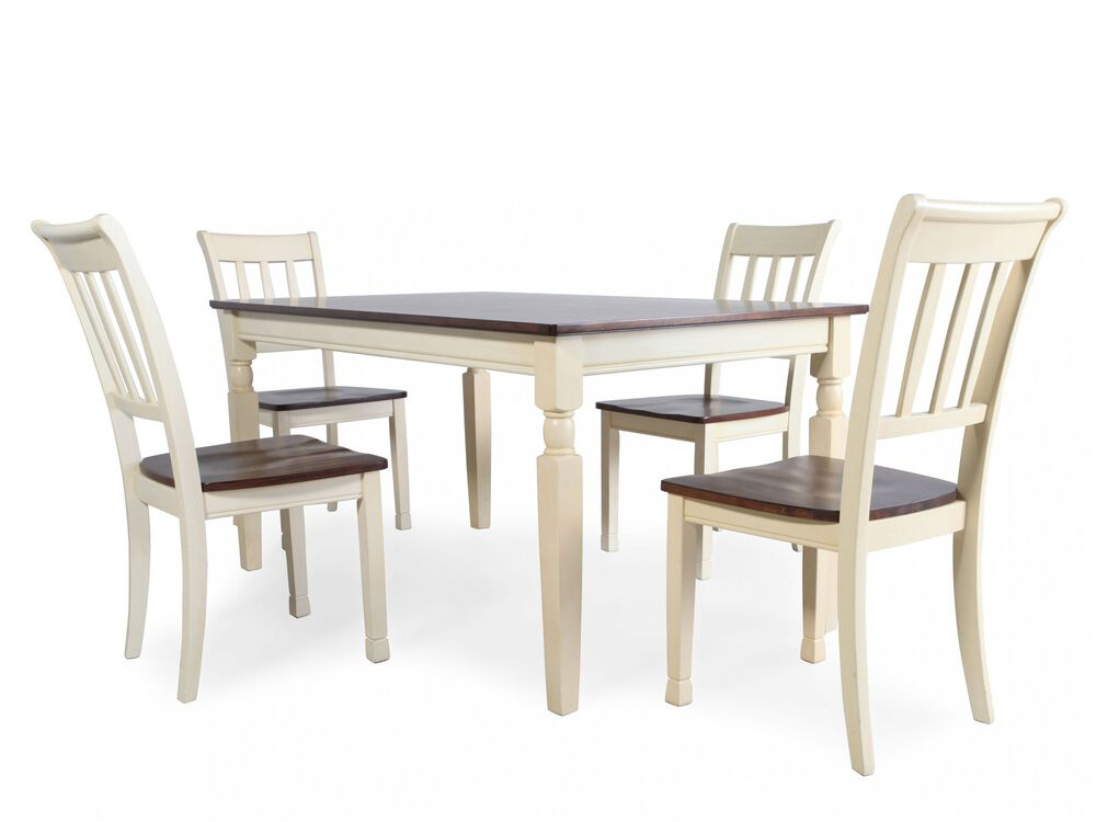 Five-Piece Cottage Dining Set in Buttermilk   Mathis ...