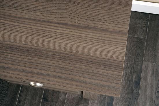 """53"""" Contemporary Three-Drawer Desk in Diamond Ash"""